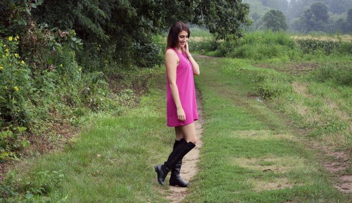 Pink Shift Dress |OOTD