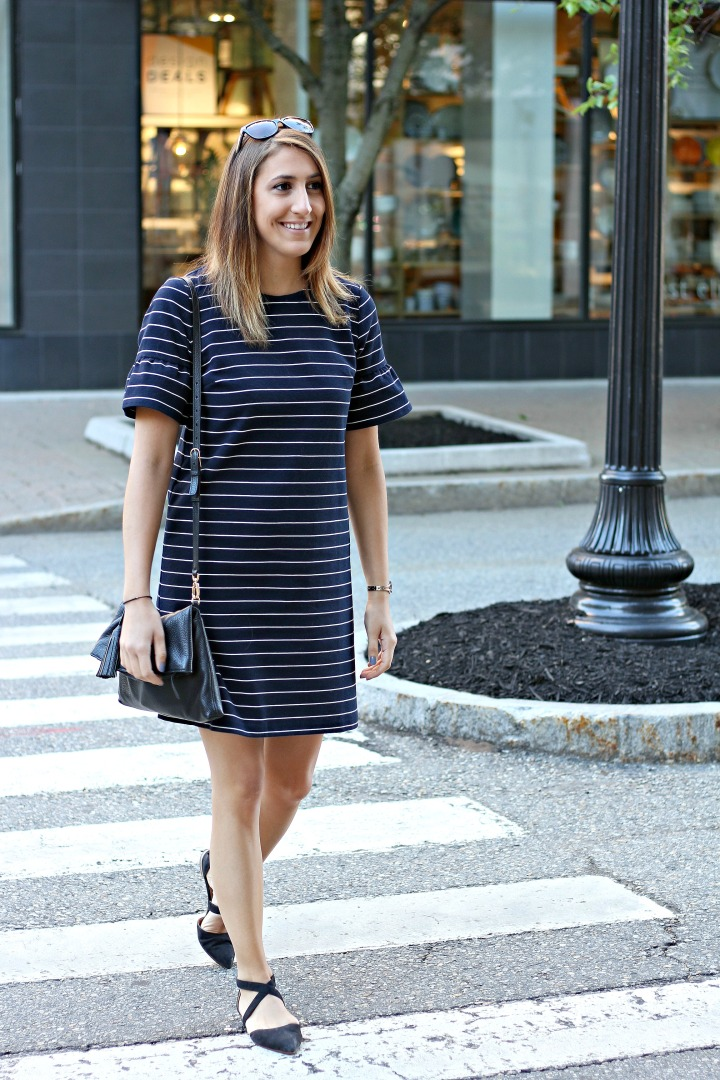 Stripes & Bell Sleeve